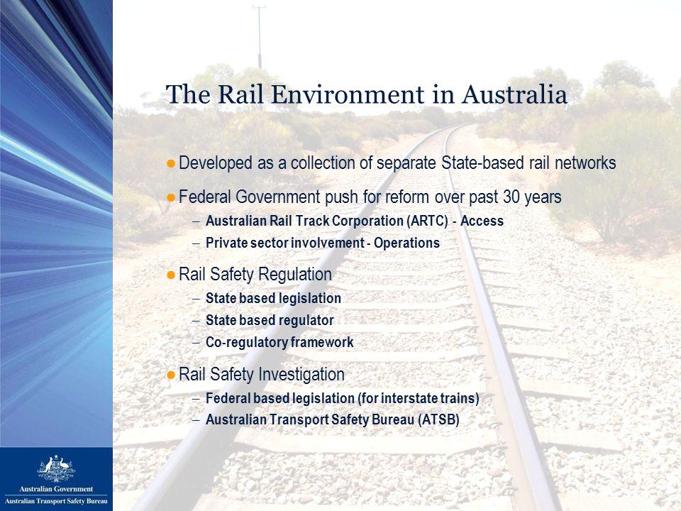 Accident Investigations ●Aviation ●Marine ●Rail Research Investigations ●Road / Aviation / Marine / Rail The Australian Transport Safety Bureau (ATSB)