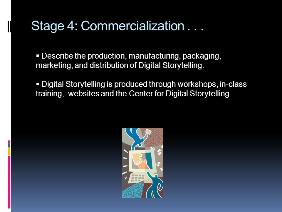 Stage 4: Commercialization...