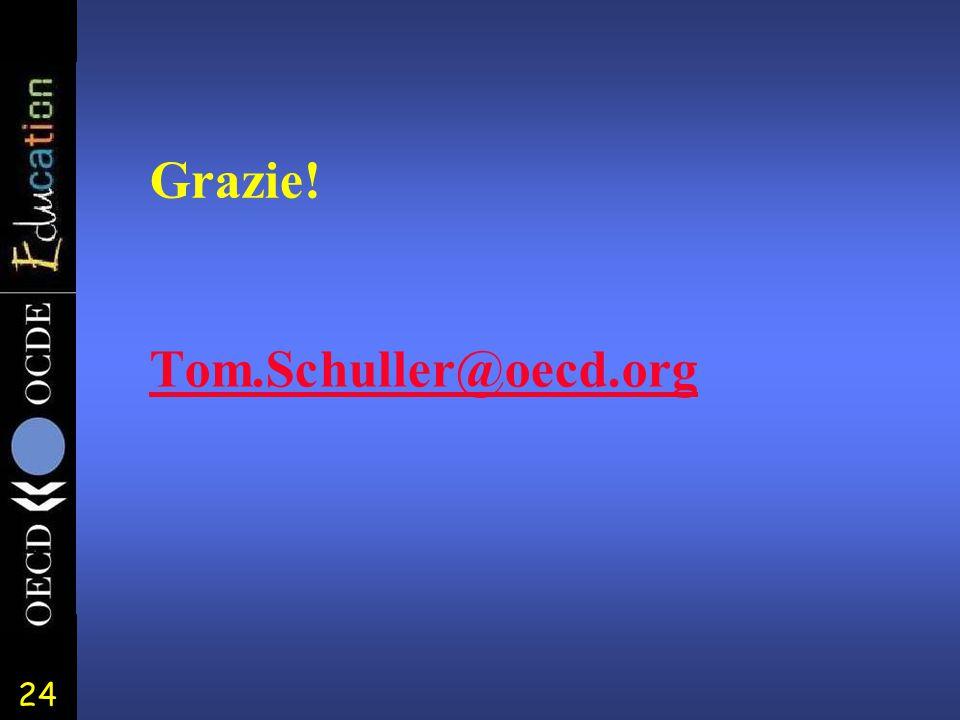 24 Tom.Schuller@oecd.org Grazie!