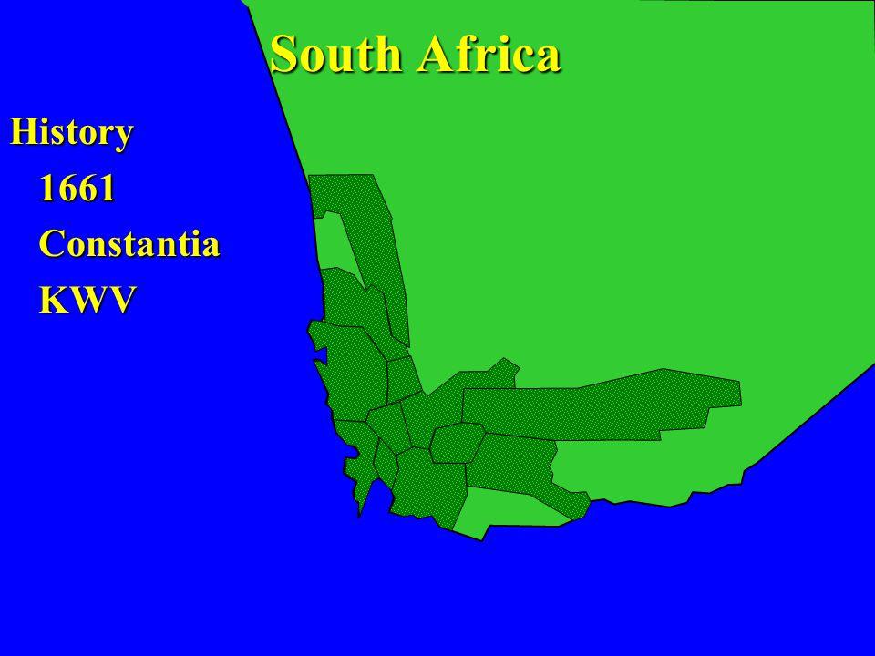 History 1661 1661 Constantia Constantia KWV KWV South Africa