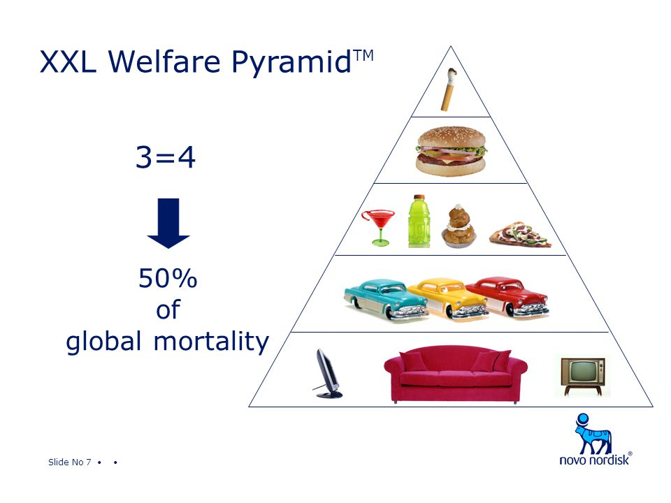 Slide No 7 XXL Welfare Pyramid TM 50% of global mortality 3=4