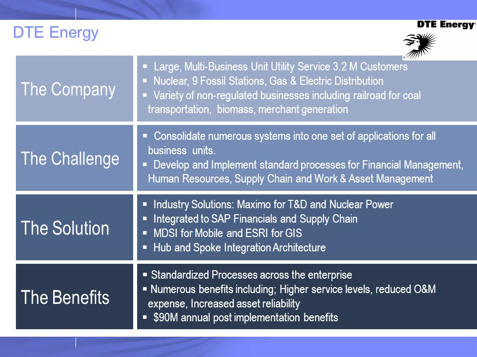 The Company  Large, Multi-Business Unit Utility Service 3.2 M Customers  Nuclear, 9 Fossil Stations, Gas & Electric Distribution  Variety of non-re