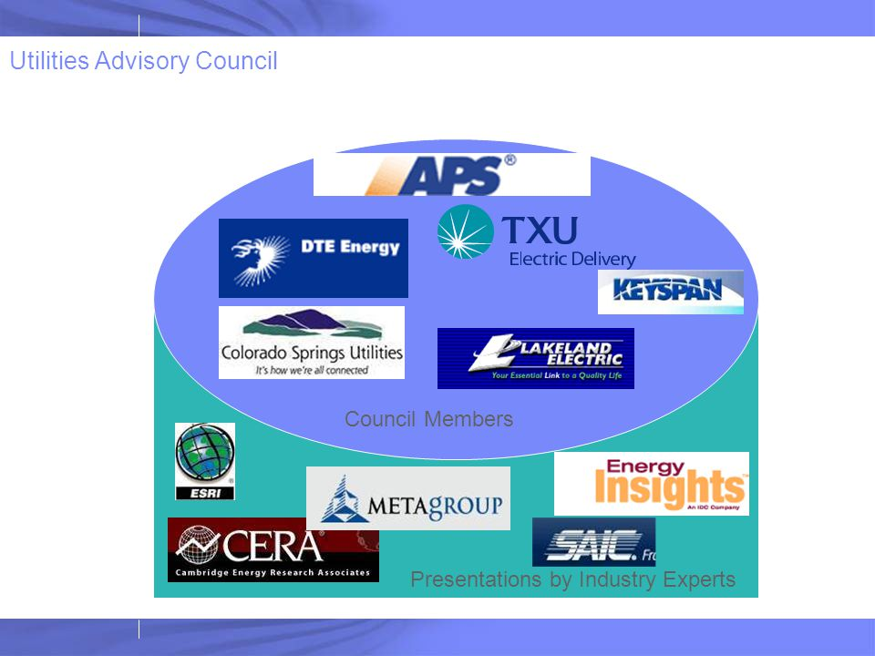 Utilities Advisory Council Presentations by Industry Experts Council Members