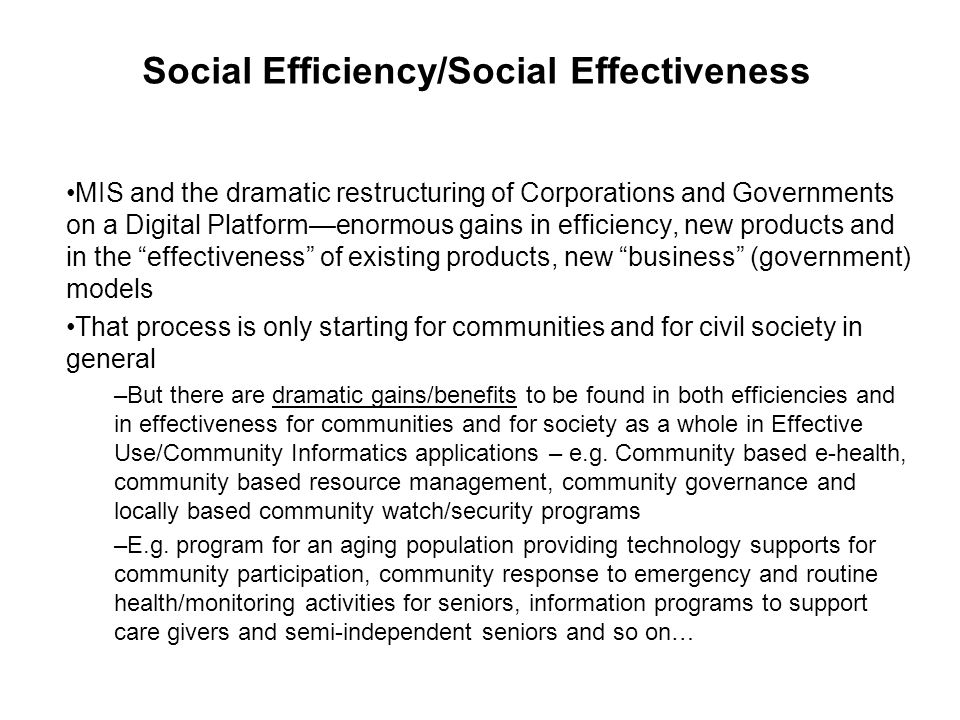 ICTs are the production tools of the Information Society –Those without effective access to those tools i.e.