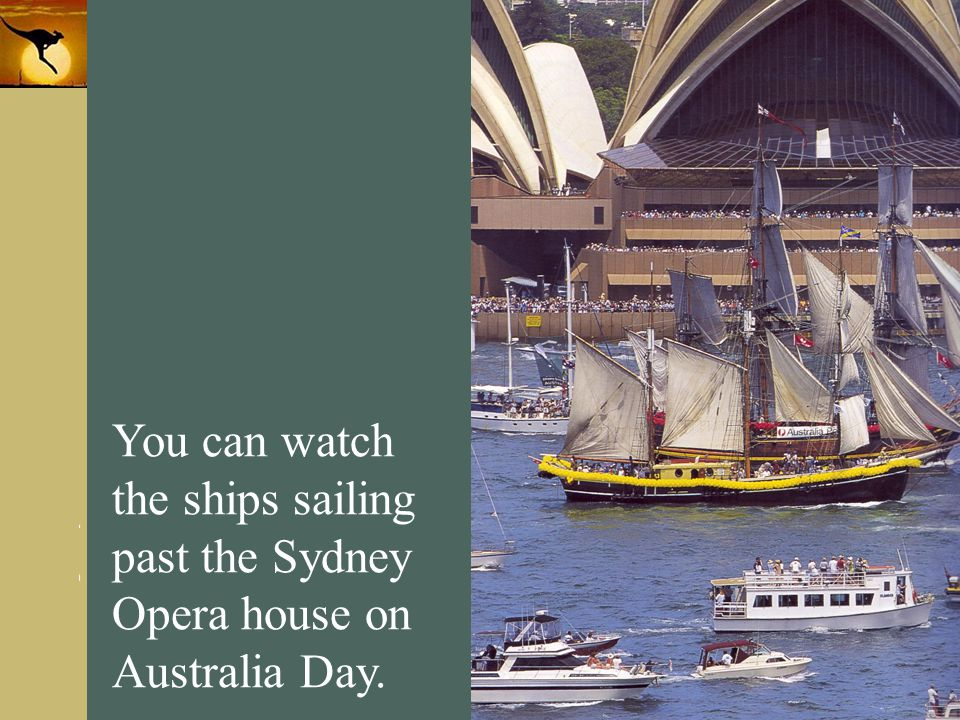 www.themegallery.com Company Logo You can watch the ships sailing past the Sydney Opera house on Australia Day.