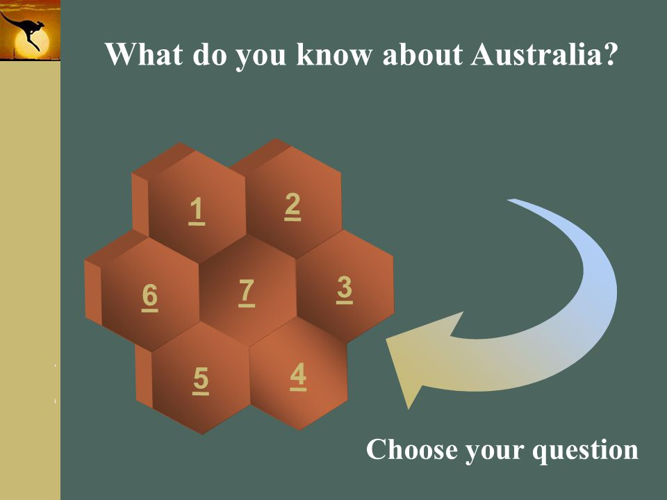 www.themegallery.com Company Logo What do you know about Australia? 3 2 4 7 1 5 6 Choose your question