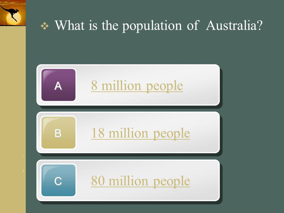 www.themegallery.com Company Logo 8 million people A 18 million people B 80 million people C  What is the population of Australia?
