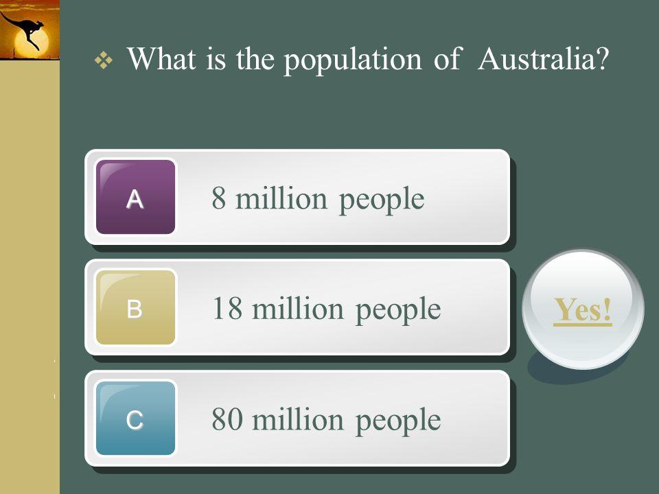 www.themegallery.com Company Logo 8 million people A 18 million people B 80 million people C  What is the population of Australia? Yes!