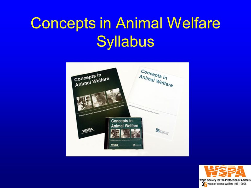 Concepts in Animal Welfare Syllabus