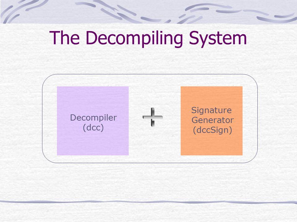 The Decompiling System Decompiler (dcc) Signature Generator (dccSign)