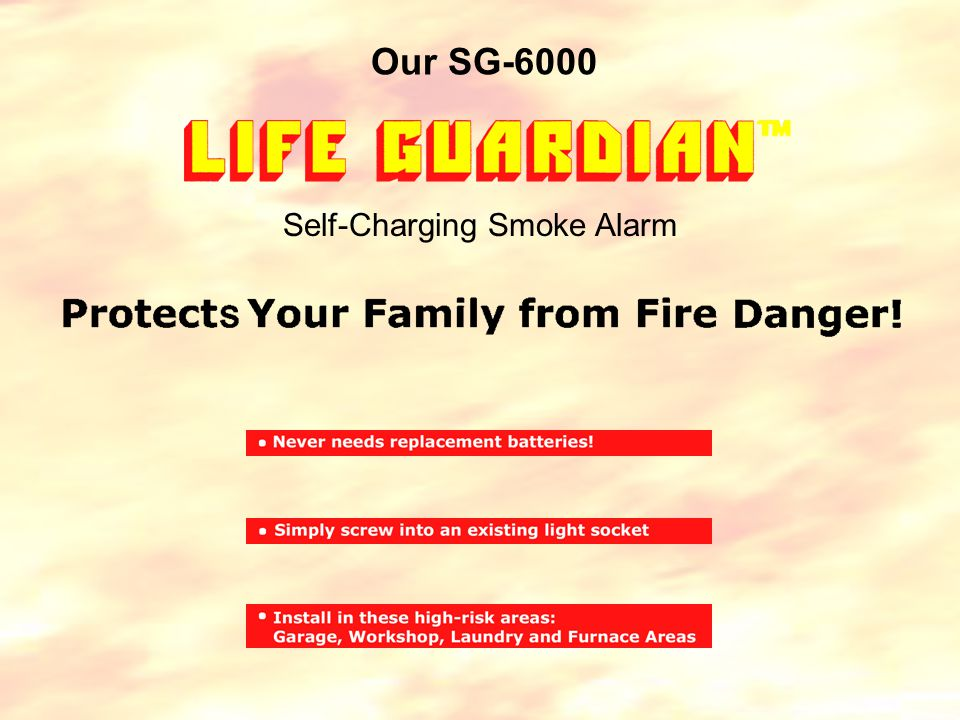 Our SG-6000 Self-Charging Smoke Alarm