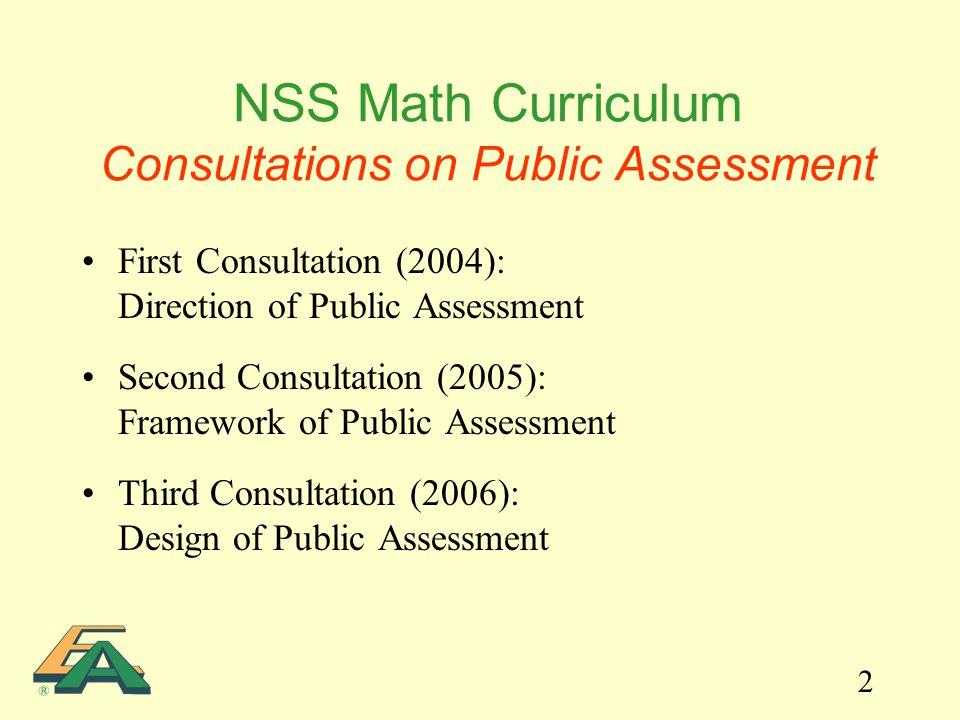 2 First Consultation (2004): Direction of Public Assessment Second Consultation (2005): Framework of Public Assessment Third Consultation (2006): Desi