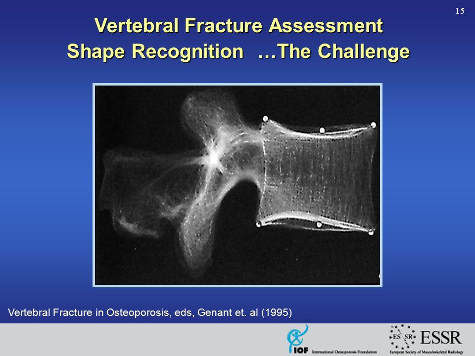 15 Vertebral Fracture in Osteoporosis, eds, Genant et. al (1995) Vertebral Fracture Assessment Shape Recognition …The Challenge