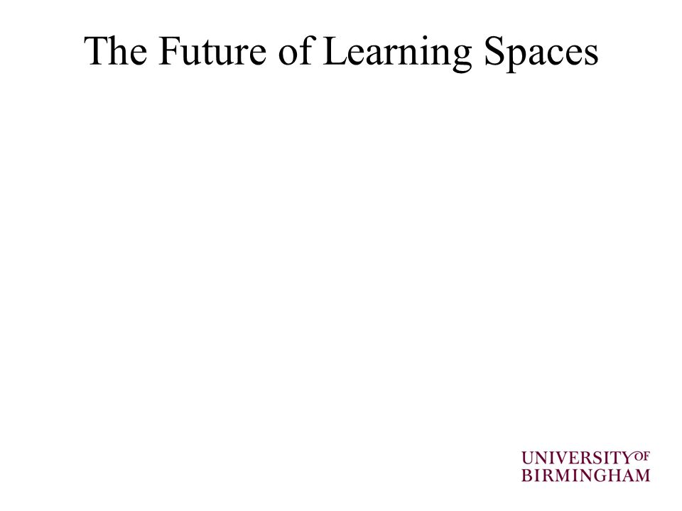 The Future of Learning Spaces