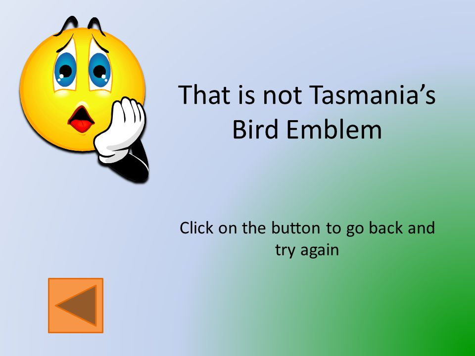 Which bird is the Bird Emblem of Tasmania.