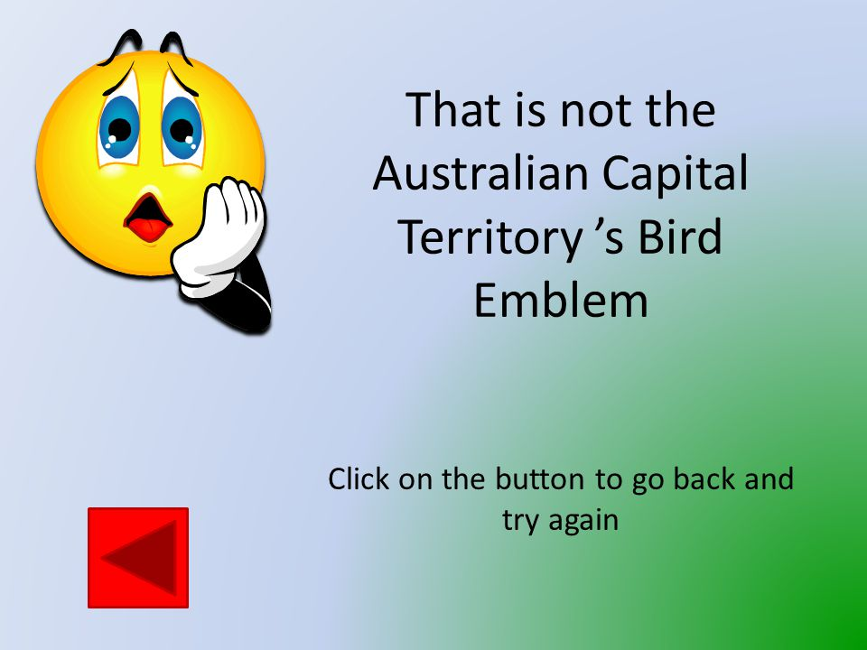 Which bird is the Bird Emblem of the Australian Capital Territory.
