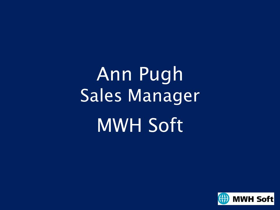 Ann Pugh Sales Manager MWH Soft
