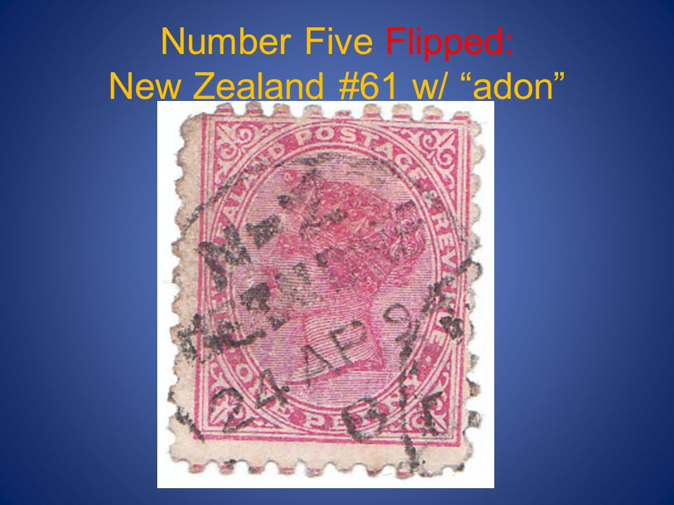"Number Five Flipped: New Zealand #61 w/ ""adon"""