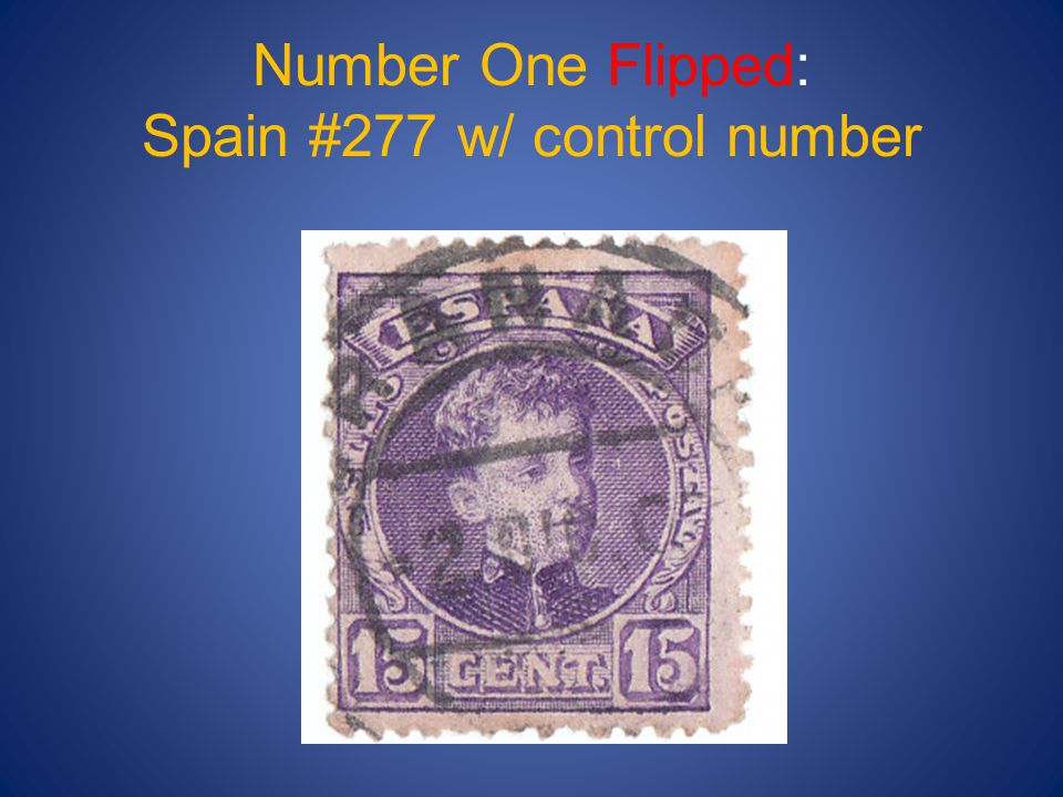 Number One Flipped: Spain #277 w/ control number