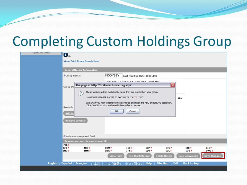 Completing Custom Holdings Group