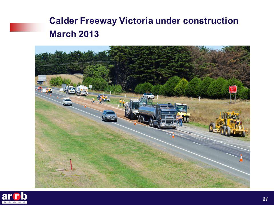Calder Freeway Victoria under construction March 2013 21
