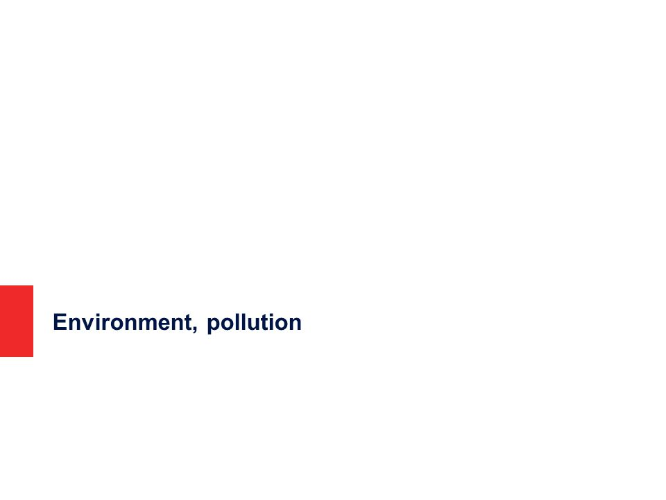Environment, pollution