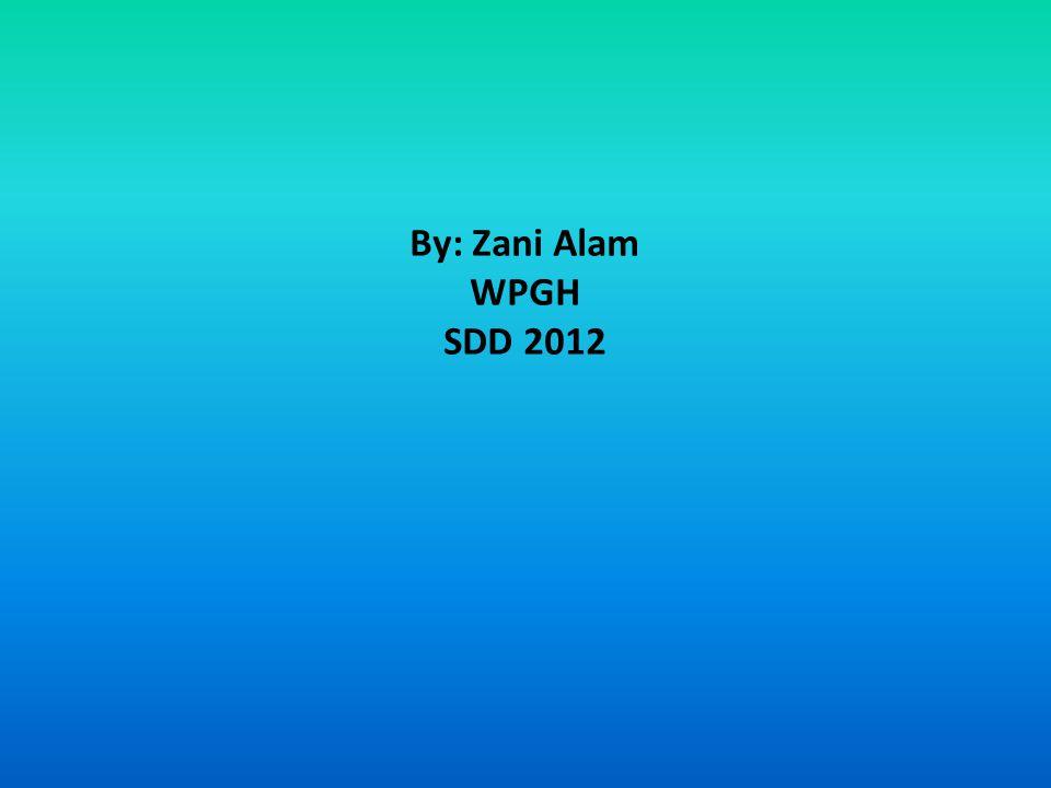 By: Zani Alam WPGH SDD 2012