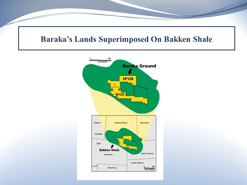 Baraka's Lands Superimposed On Bakken Shale