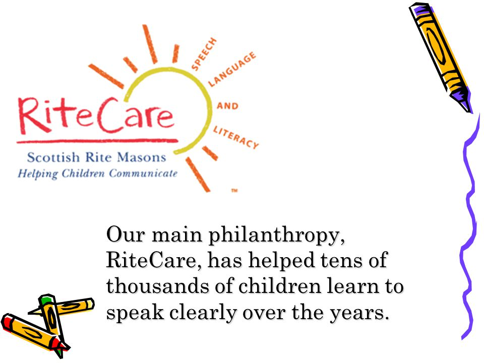 Our main philanthropy, RiteCare, has helped tens of thousands of children learn to speak clearly over the years.