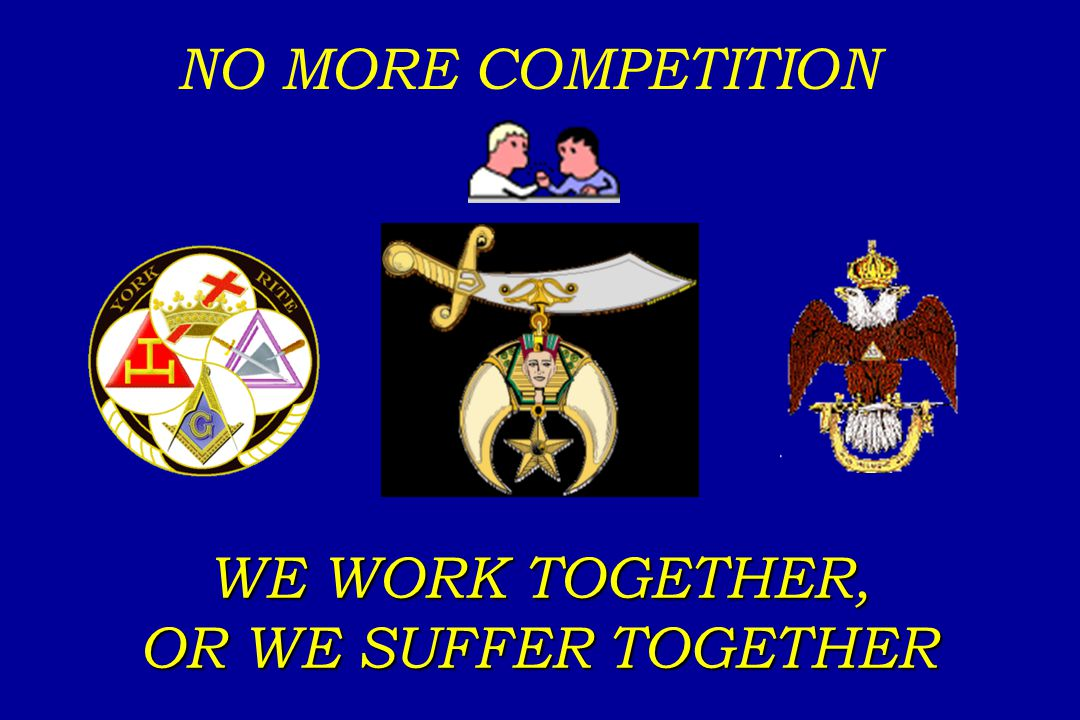 NO MORE COMPETITION WE WORK TOGETHER, OR WE SUFFER TOGETHER