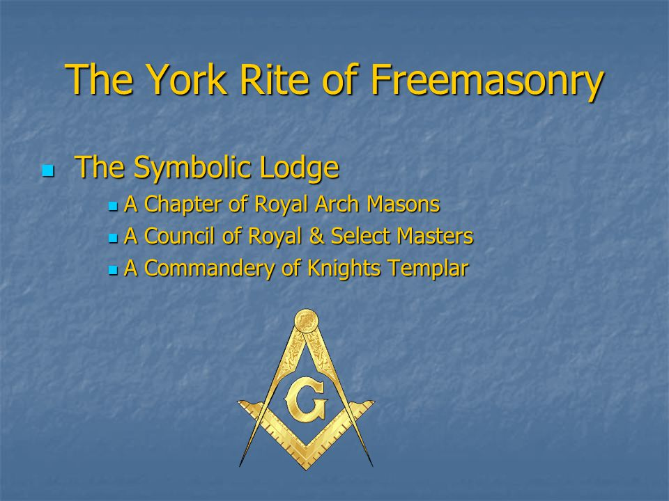 The Symbolic Lodge is the Foundation