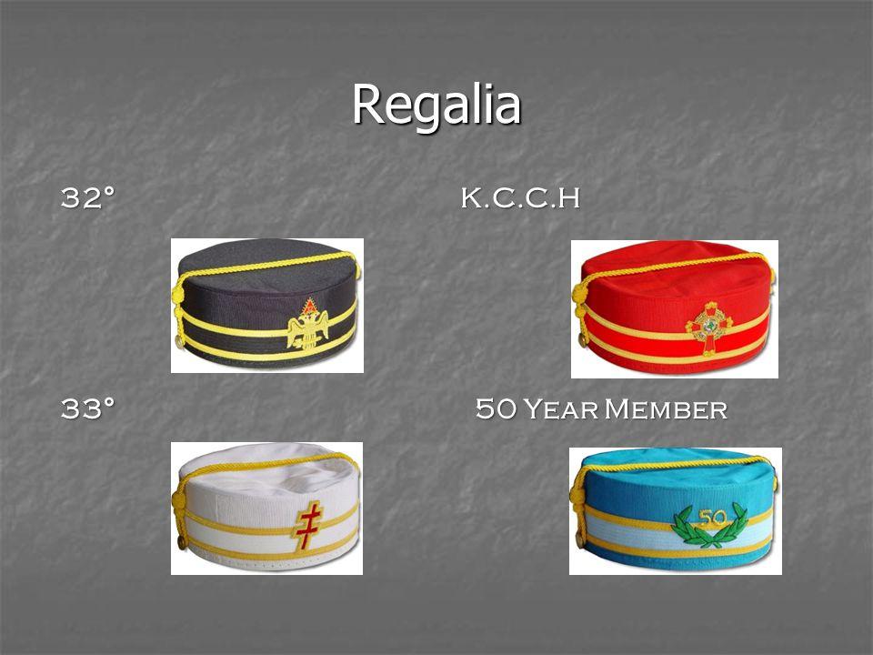 Regalia 32°K.C.C.H 33° 50 Year Member