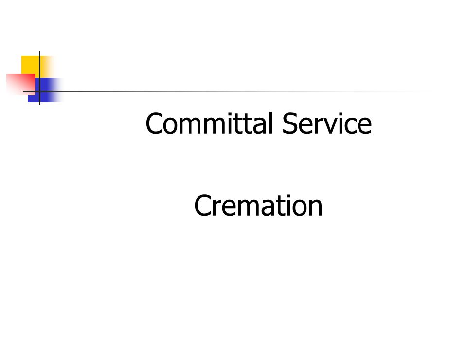 Committal Service Cremation