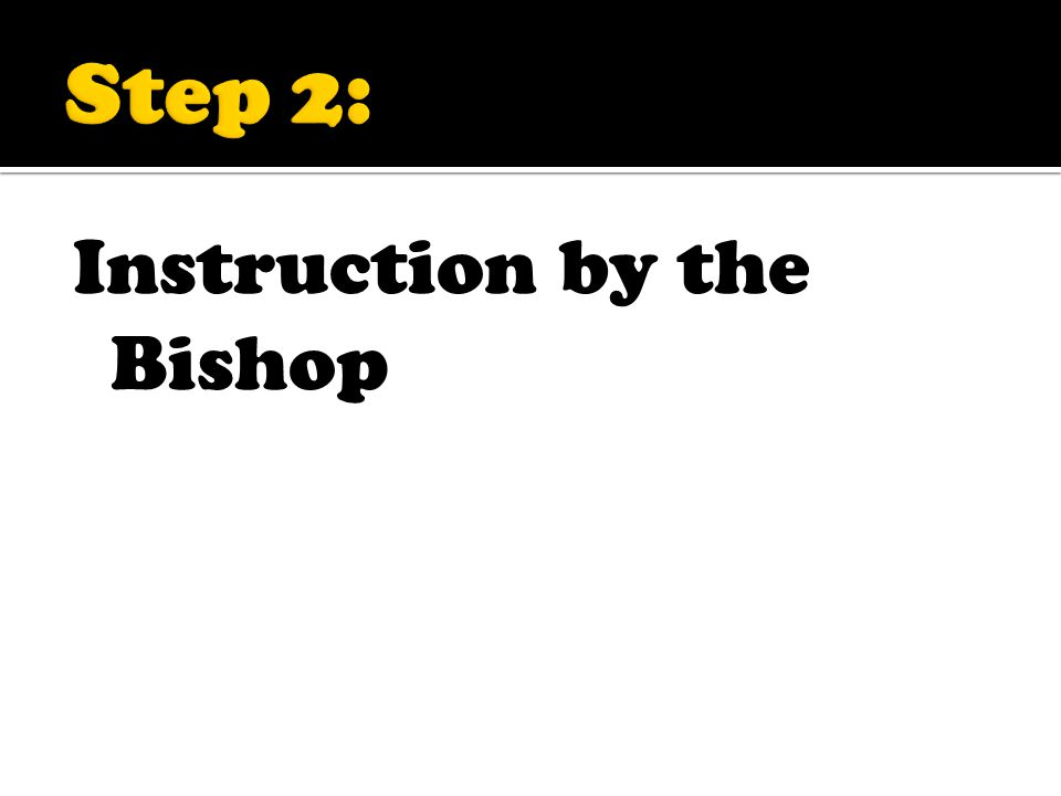 Instruction by the Bishop