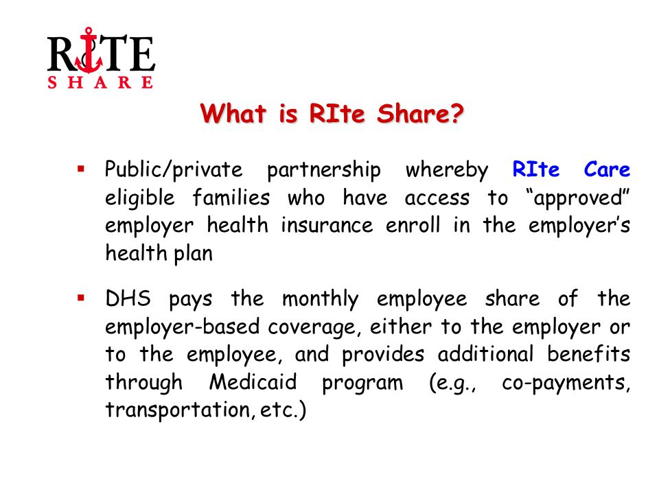 Remaining Challenges: Ensuring Access and Quality of Care Goal 3: To assure that the access and quality of care provided to RIte Share enrollees is equivalent to the experience of RIte Care enrollees.