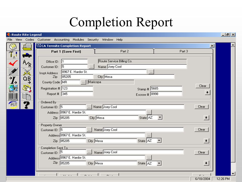 Completion Report