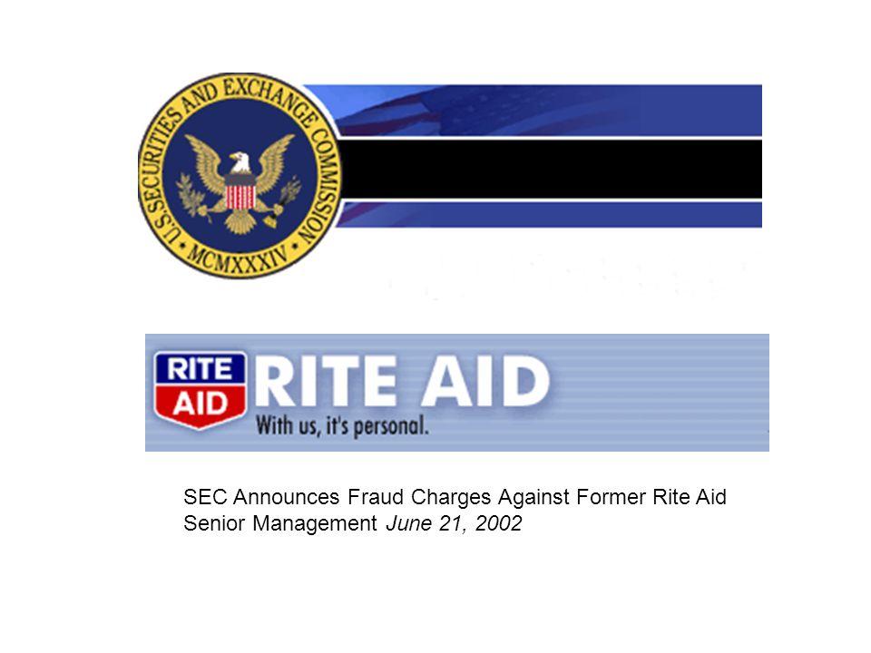 SEC Announces Fraud Charges Against Former Rite Aid Senior Management June 21, 2002