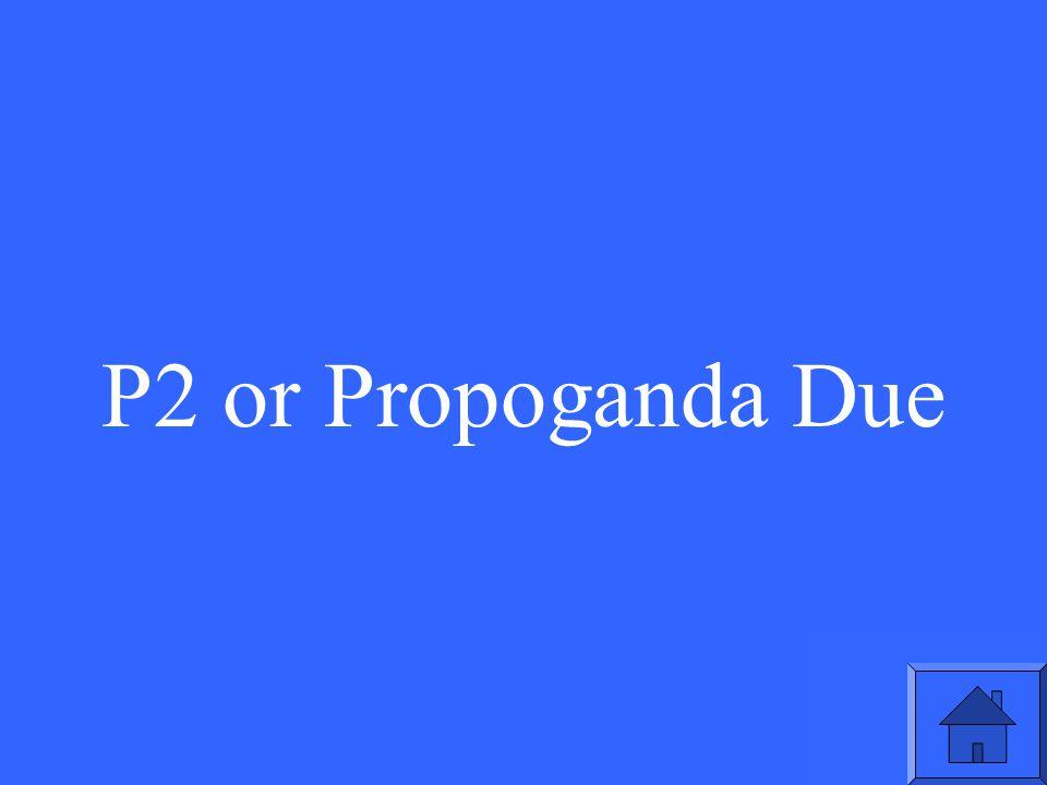 P2 or Propoganda Due
