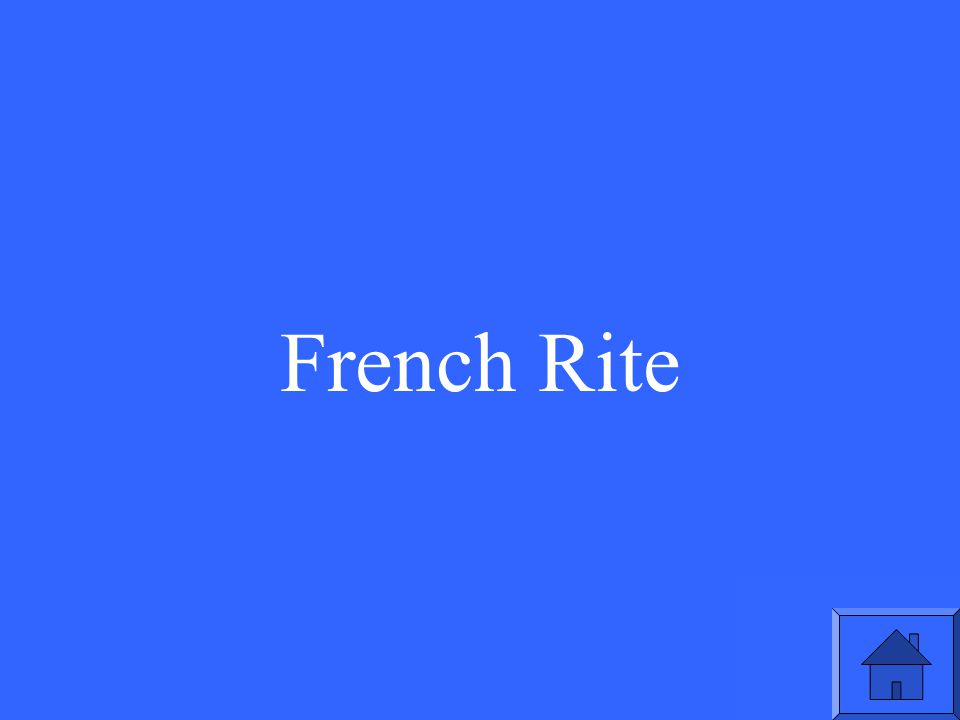 French Rite