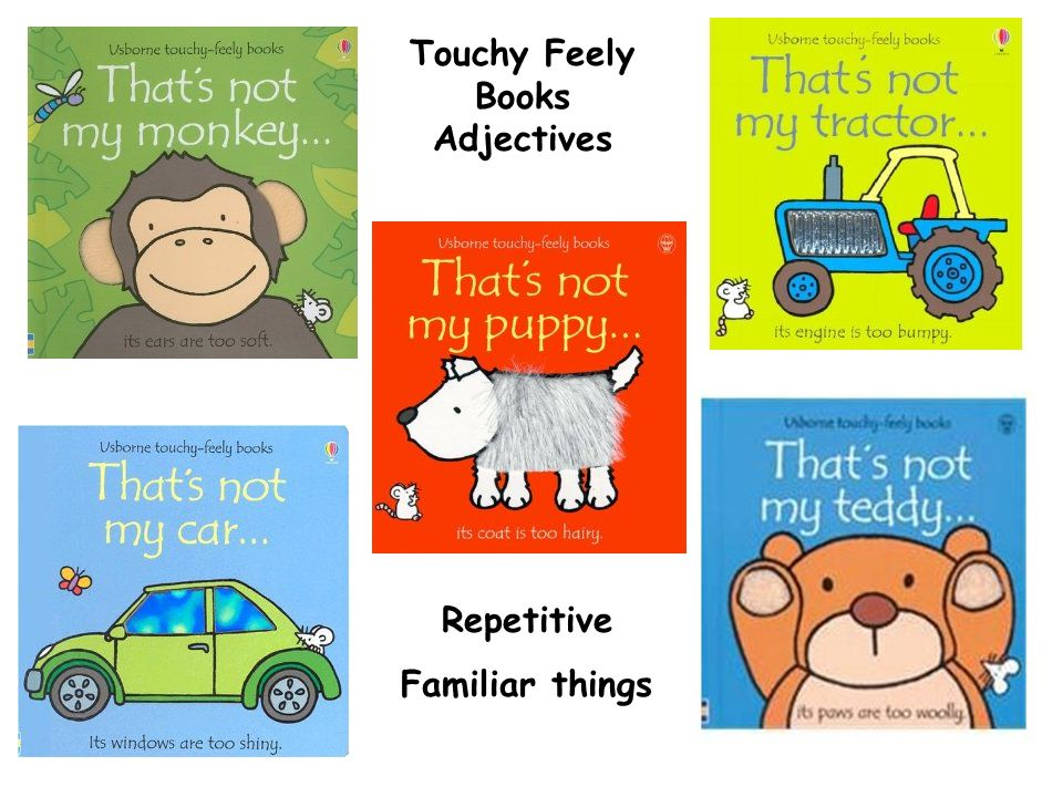 Touchy Feely Books Adjectives Repetitive Familiar things