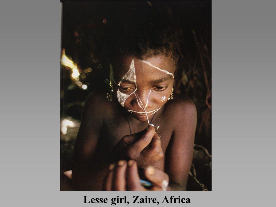 Lesse girl, Zaire, Africa