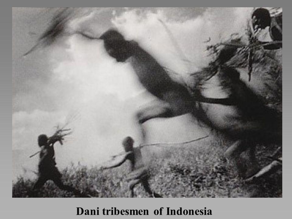 Dani tribesmen of Indonesia