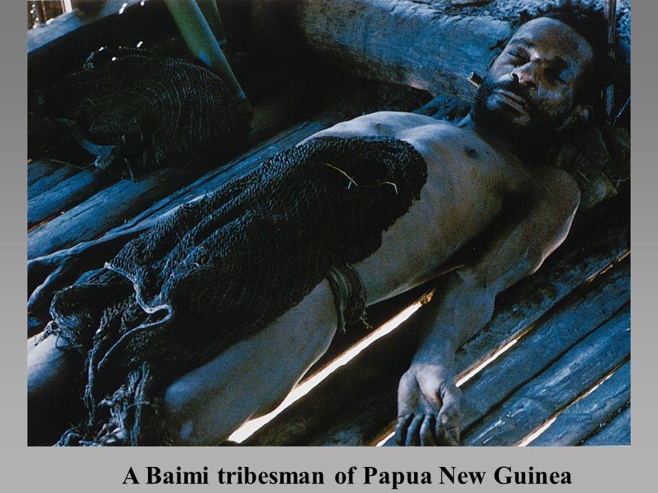A Baimi tribesman of Papua New Guinea