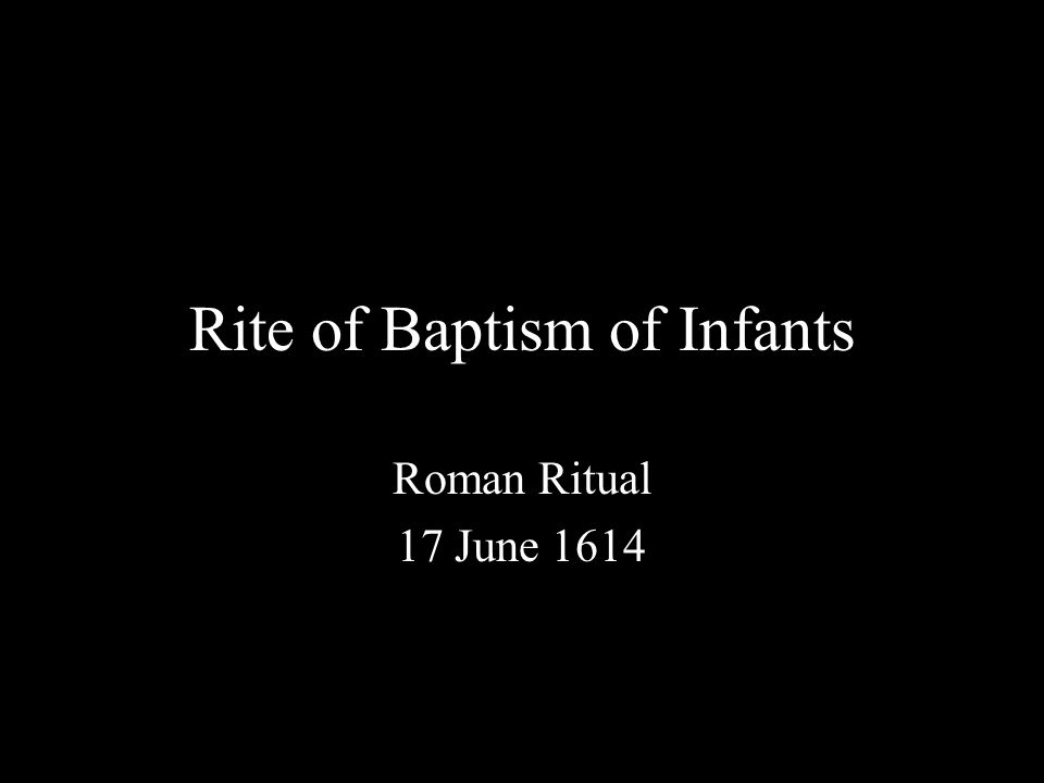 Praenotanda Definitions (1-3) Matter for Baptism (4-7) Form for Baptism (8-11) Minister of Baptism (12-17) Baptism of Adults (18) / of Children (19-25) Rites and Ceremonies (26-30) Sponsors (31-38) Time and Place of Administration (39-46) Holy Oils and Other Requisites (47-71)