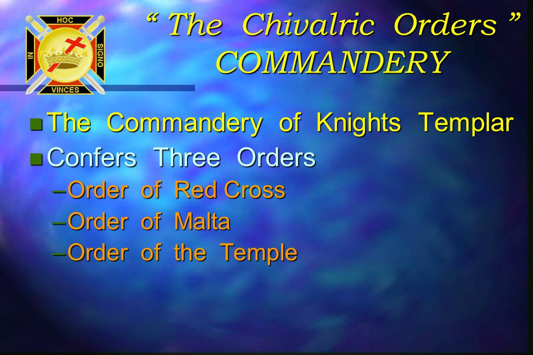 Every Christian Mason Should be a Knight Templar Assist at the Rebuilding of the 2 nd Temple.