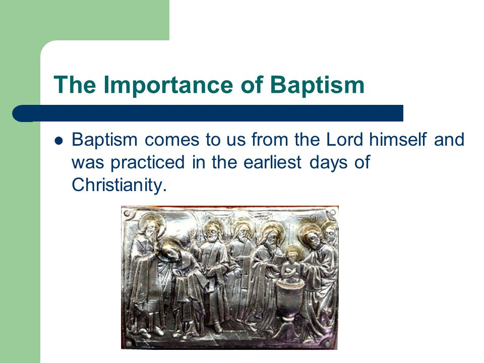 Rite of Baptism for Children The Rite of Baptism for Children is one of the ways that the Church celebrates baptism.