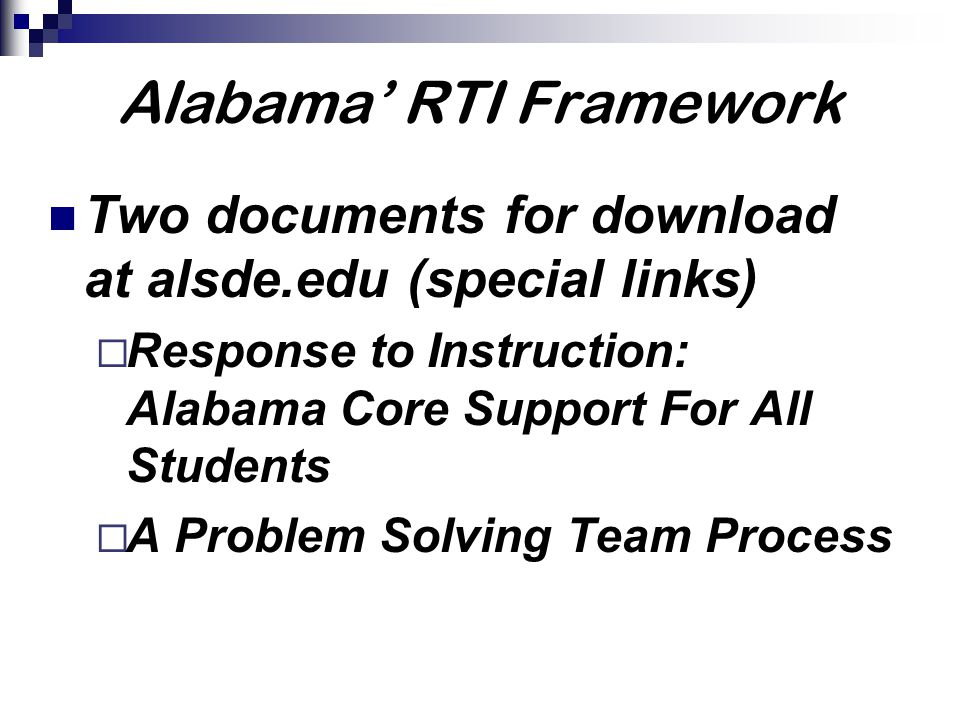 Questions from SPED Coordinators Screening questions 1.