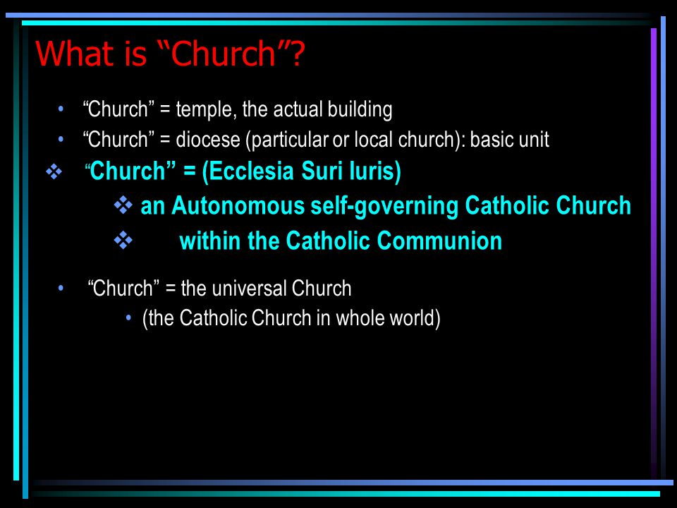 What is Church .