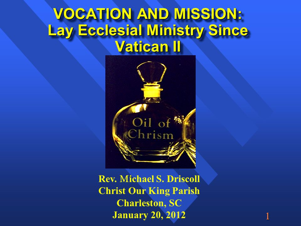  Post-baptismal Anointing: Consecration into Vocation and Mission I.