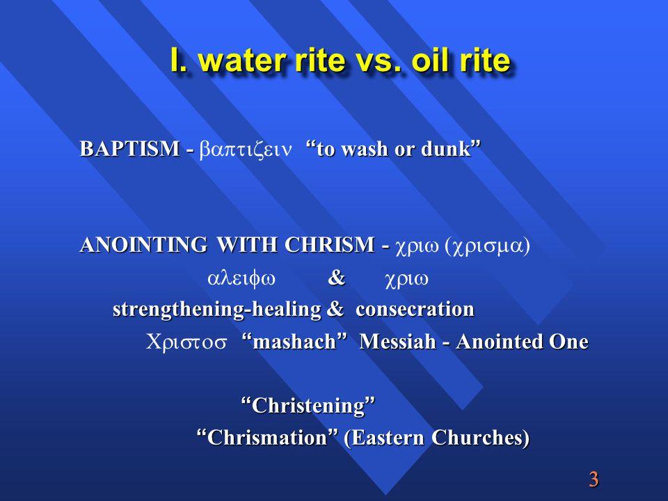  I. water rite vs.